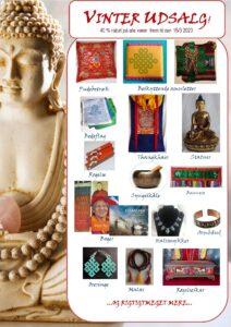 40 % rabat på alle varer. Tryk på billedet og se vores udvalg af tibetansk kunsthåndværk, røgelse, bedeflag, bøger og m.m.