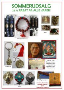 Sommerudsalg! 25 % rabat på alle varer – 30 % rabat for medlemmer af Dansk Selskab for Tibetansk Kultur.